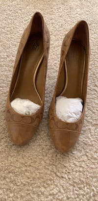 Shoes  lightly used. Coach size 8 fits 7.5 & 8