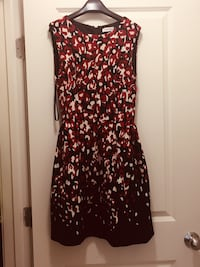Black and red floral sleeveless dress Sterling, 20166