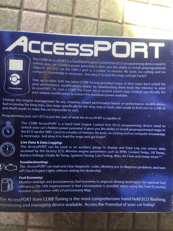 accessport car ecu tuner/datalog