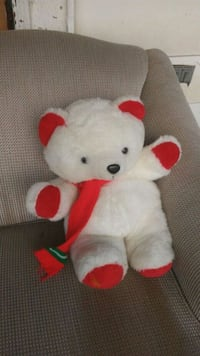 white and red bear plush toy Toledo, 43608