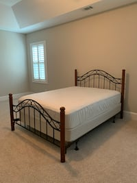 Queen Bed Frame with Mattress and Box Spring