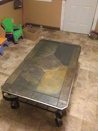 Solid stone top living room table 4 feet by 2 &1/2 Petersburg, 62675