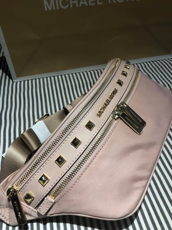 Michael Kors Kenly Nylon Studded Waist Pack 39c98c64-caac-4ee0-973a-2932804dc993