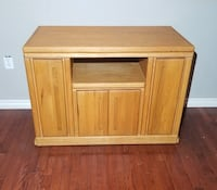 Light Brown Solid Wood Entertainment/TV/Media Storage Center/Stand West Linn, 97068