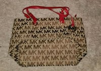 brown and white Michael Kors monogram tote bag Washington, 20004