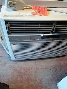 white and gray Frigidaire window type air condition