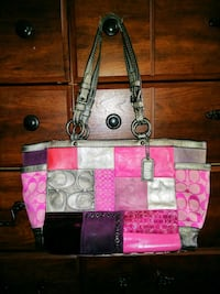 Coach purse pinks and purples Newport News