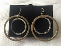 Two toned hoop earrings.  From Avon. Springfield, 22150