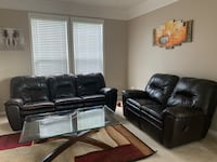Leather Recliner Sofa and Love seat Aldie, 20105