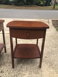 Two wooden end tables with storage drawers  Alexandria, 22306