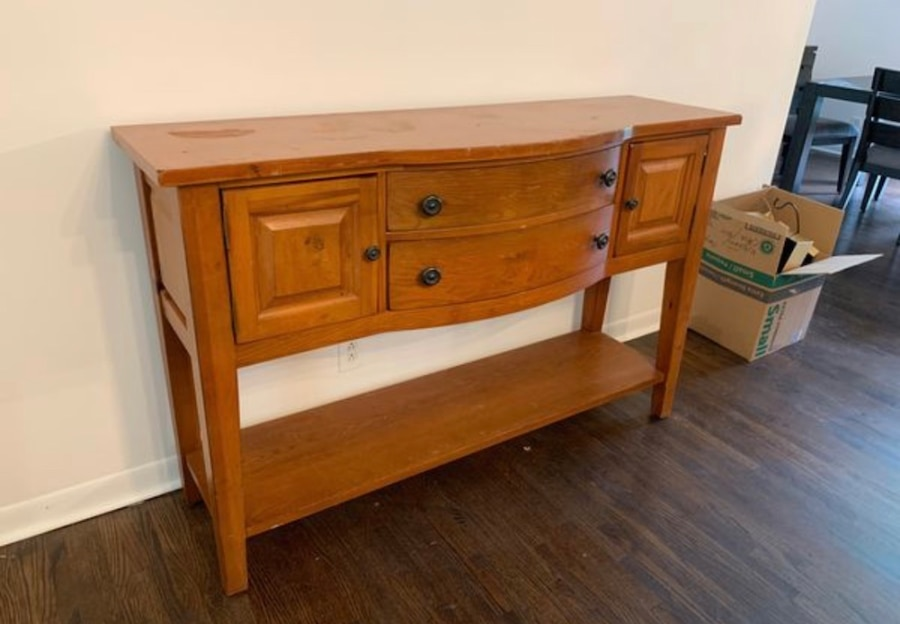 used real wood shelf and sideboard by broyhill for sale in rh tr letgo com