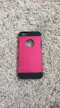 Pink and black iphone case