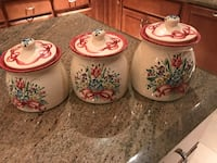 Hand painted storage canisters  Houston, 77024