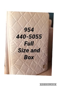 Mattress Full size bed and box  North Miami Beach, 33162