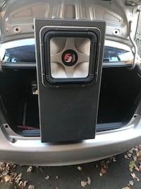 Black and gray car subwoofer