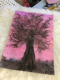 pink and black abstract painting Speedway, 46224