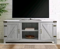 Stone Gray Barn door Modern Tv stand Inver Grove Heights, 55076