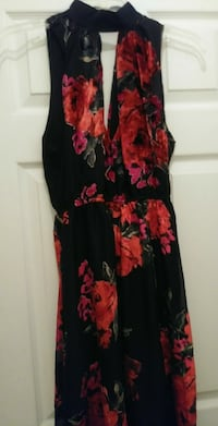 Women's black and red floral dress brand new Lehigh Acres, 33971