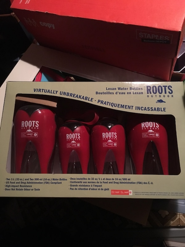 Roots Water Bottles - 4 pack