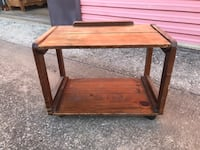 Wood Rolling Cart / Stand Denton, 76201