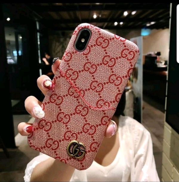new product 566ce cfec9 RED GUCCI IPHONE CASE