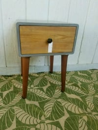 brown wooden single drawer side table Los Angeles, 91352