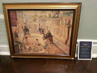 brown wooden framed painting of people Richmond Hill, L4C 5H1