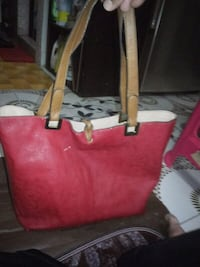women's red leather tote bag Singapore, 425776