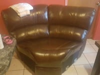 brown leather 3-seat sofa Weslaco, 78596