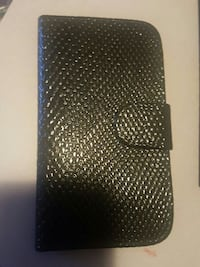 Black leather case for Samsung Galaxy S3