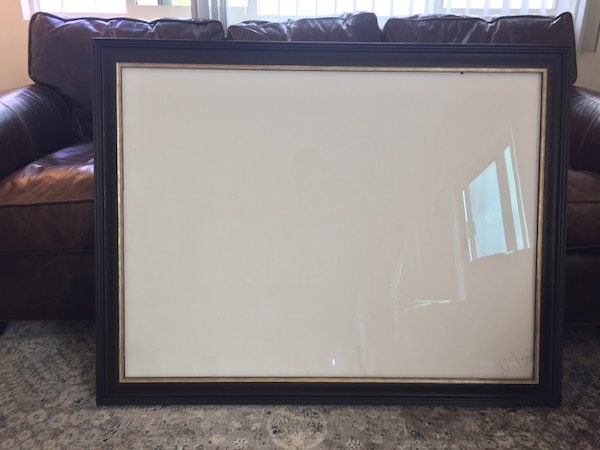 Used Picture frame with museum glass for sale in Santa Monica - letgo