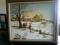brown wooden framed painting of house Seaside Heights, 08751