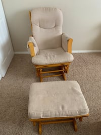 Rocking chair with gliding ottoman