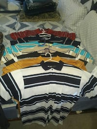 Collection of new mens fleece,  shirts.