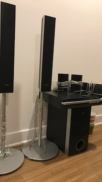 black and gray home theater system Carignan, J3L