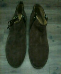 pair of black suede shoes Pinole