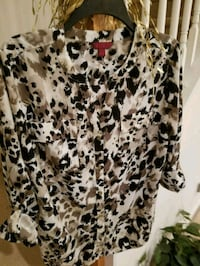 Sexy Animal Print Shirt/ Versatile Sleeves