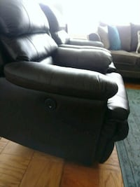 black leather recliner sofa chair 42 km