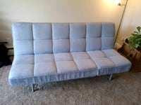 Convertible Tufted Futon Sofa Couch Bed Recliner L Trenton