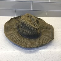 Used Brown Crochet Cowboy Hat For Sale In Aurora Letgo