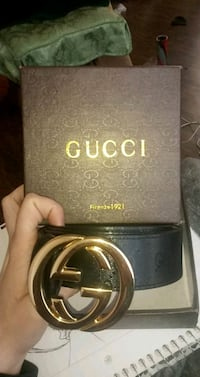 black Gucci leather belt with silver buckle Silver Spring, 20906