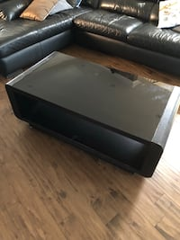 black and brown wooden coffee table Toronto, M8X 2L2