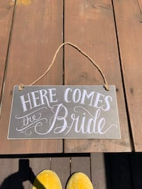 Here's Comes the Bride and Groom Sign Bensalem, 19020