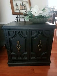 black wooden 2-door cabinet Surrey, V3R 6X3