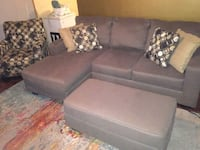 gray sectional sofa  with ottoman and chair  Fall River, 02721