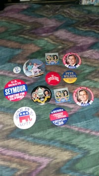Political buttons Long Beach, 90804