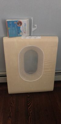 Baby mattress with head support, includes brand new cover
