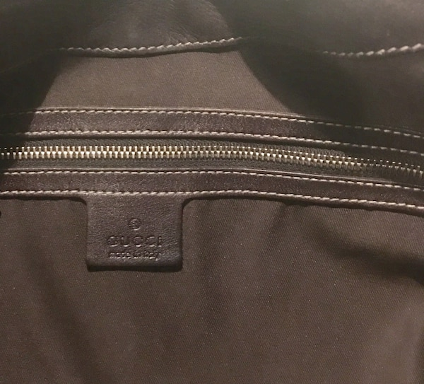 6c193103d772 Used monogrammed brown Gucci leather backpack for sale in Dallas - letgo