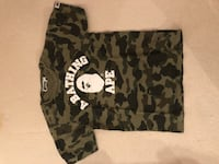 black and grey camouflage A Bathing Ape t-shirt West Vancouver, V7W 1L6