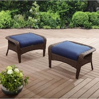 Better Homes and Gardens Colebrook 2pk Ottomans, Blue ,SKU# 44063-7D1 Santa Fe Springs